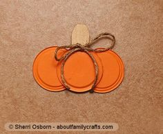 """canning jar lid pumpkin - Finally something to do with all those """"spent"""" jar lids"""