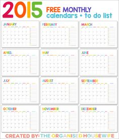 167 best Free Printable Calendars images on Pinterest Free