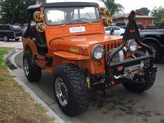 orang, jeep