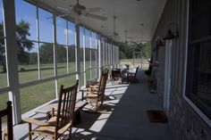 Screened in porch on metal building home