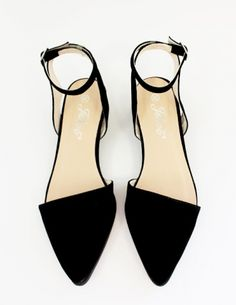 pixie market Pointy ankle strap flats