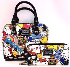 Loungefly HELLO SANRIO HELLO KITTY My Melody Keropi Handbag Cross Body Purse #Loungefly #Satchel