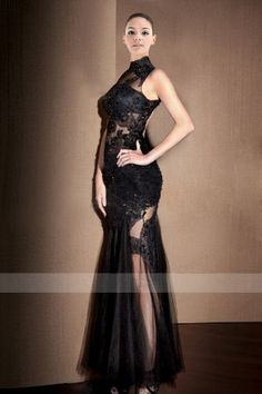 Intoxicating Jewel Neckline Sheath Prom Dresses Gown in Lace Style with Keyhole