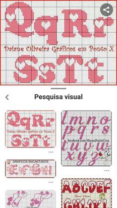 Letras p d cruz Cross Stitch Letter Patterns, Cross Stitch Letters, Cross Stitch Heart, Stitch Patterns, Crochet Alphabet, Crochet Letters, Stencil Patterns, Canvas Patterns, Pixel Crochet Blanket