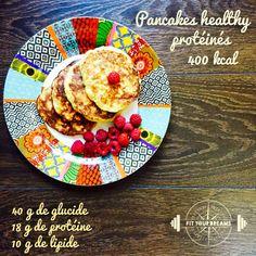 Pancakes healthy protéinés express