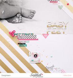 Layout *Baby Feet* - Scrapbook Werkstatt Mai Kit 2016 - von Ulrike Dold