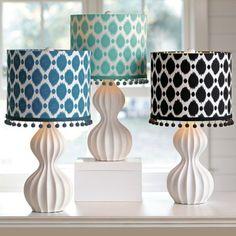 Ikat Dot Shade - contemporary - lamp shades - PBteen