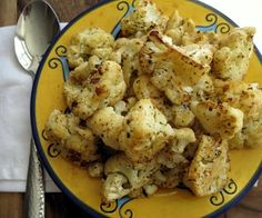 Perfect Roasted Cauliflower - Weight Watchers 1 Point Plus per serving