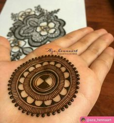 Ideas Tattoo Mandala Simple Circles For 2019 Henna Hand Designs, Circle Mehndi Designs, Round Mehndi Design, Mehndi Designs Finger, Mehndi Designs Book, Mehndi Designs For Beginners, Modern Mehndi Designs, Mehndi Designs For Fingers, Mehndi Patterns