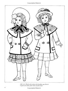Old-Time Children\'s Fashions Coloring Book (Dover Fashion Coloring ...