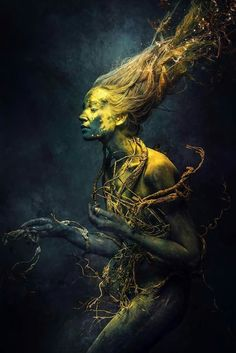 Cascading Dark Art, Fantasy, Sci-Fi, Sex Appeal - deliciouslydark: Body Roots by Stefan Gesell. Fantasy Photography, Fine Art Photography, Portrait Photography, Artistic Photography, Dark Fantasy, Fantasy Art, Foto Art, Belle Photo, Dark Art