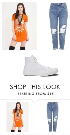 """""""Untitled #5251"""" by clarry-sinclair ❤ liked on Polyvore featuring Topshop and Converse"""