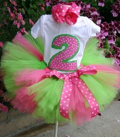 Make it a 1 and you got a buyer! Sour Lemonade Hot Pink and Lime Green Princess by KirrasBoutique