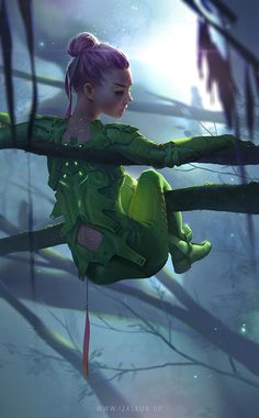 BLATTGRUEN by Jennifer Wuestling | Illustration | 2D | CGSociety