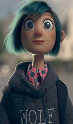 ArtStation - Blue Hair Girl, Douglas Giarletti