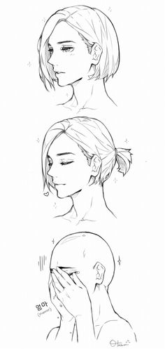 i saw a photo of jeonghan where he tied his short hair and i just want to draw it but idk why i draw him bald haha i really laughed out loud when i fini. Realistic Eye Drawing, Human Figure Drawing, Figure Drawing Reference, Hair Reference, Guy Drawing, Drawing Faces, Fantasy Character, Female Character Design, Character Drawing