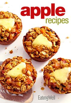 Healthy Apple Recipes from Mini Apple Pies to Apple Fruit Bars #delicious #freedownload