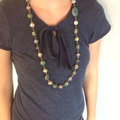 Beautiful blue Haitian necklace. April E.