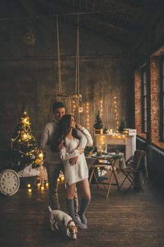 Christmas romance photo ideas for couples cards
