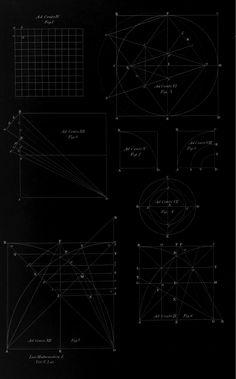 """Thomas Hobbes – Antique Geometric Diagrams, """"Principia et Problemata Aliquot Geometrica Antè Desperata, Nunc breviter Explicata & Demonstrata"""", 1674."""