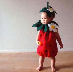 Fantasia de comida para criança morango