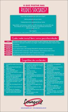 37 ideias de conteúdo para suas redes sociais! | www.lounge42.com | marketing, comunicação