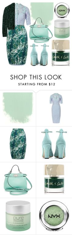 """""""Gradient Teal"""" by cherieaustin ❤ liked on Polyvore featuring Natasha Zinko, Whistles, Valentino, Fendi, Smith & Cult, Pure Altitude, NYX and Mulberry"""