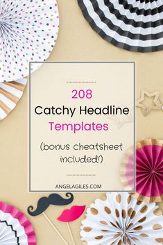Want the secret, highest converting, catchy headlines & attention blog title templates in the blogging industry? Swipe ours today! #catchyheadlines, #catchytitles #improveheadlines #generateclicks #curiousityloop #entrepreneur #socialmedia #creategreatheadlines via @https://www.pinterest.com/angelakgiles/