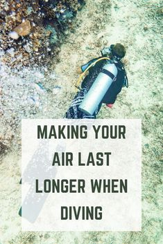 Making Your Air Last Longer When Diving Returning to the boat or shore early if you've run low on air is disappointing. How can you make your air last longer when diving? Scuba Diving Quotes, Best Scuba Diving, Scuba Diving Lessons, Scuba Diving Gear, Cave Diving, Sea Diving, Scuba Diving Equipment, Diving Board, Pool Accessories