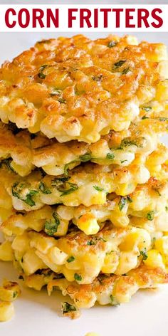 Corn Fritters Healthy, Sweet Corn Fritters, Healthy Corn, Corn Fritters Recipe With Fresh Corn, Baked Corn Fritters Recipe, Grilled Corn Recipe, Potato Fritters, Canned Corn Recipes, Fresh Corn Recipes