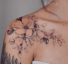 Feminine Shoulder Tattoos, Feminine Tattoo Sleeves, Shoulder Tattoos For Women, Best Tattoos For Women, Delicate Feminine Tattoos, Delicate Tattoos For Women, Cute Tattoos, Beautiful Tattoos, Body Art Tattoos