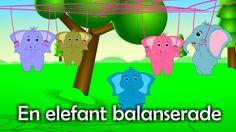 En elefant balanserade | Svenska Barnsånger