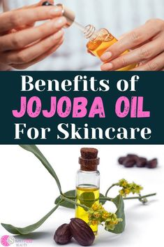 Wondering about jojoba oil benefits? It is in so many skincare products but what does jojoba oil actually do? Let's dive in! Using jojoba oil for oily skin, acne prone skin, or sensitive skin can help even out your complexion and soothe skin. Jojoba oil is a great face moisturizer and protects skin from damage; jojoba oil is also anti-aging. Jojoba oil benefits for skin are endless and it can be a great ool in your arsenal to take care of your skin no matter what season we're in! What Is Jojoba Oil, Oily Skin, Sensitive Skin, Lotion Recipe, Oil Benefits, Homemade Skin Care, Beauty Recipe, Oils For Skin, Pure Beauty