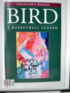 Larry Bird Autographed Collectors Edition Biography Magazine | crazycollectors.com