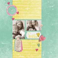 Another simple design that lets the decorative paper be a focus. Good for small photos.