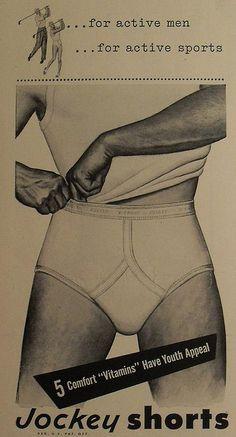 1950s Jockey Shorts Briefs Men's Underwear Vintage Advertisement Illustration by Christian Montone, via Flickr