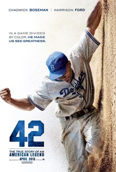 """The True Story of an American Legend"""" - he story of Jackie Robinson from his signing with the Brooklyn Dodgers organization in 1945 to his historic 1947 rookie season when he broke the color barrier in Major League Baseball. See Movie, Movie List, Movie Tv, Movie Theater, Cinema Movies, Iconic Movies, Drama Movies, Theatre, Great Films"""