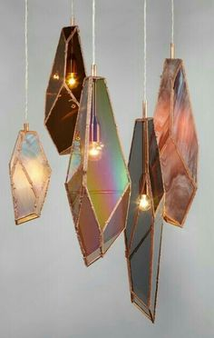 These are like hanging crystals - the best lightshades I have ever seen - thematic... #HealingSanctuary