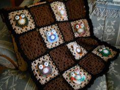 Owl afghan crochet baby blanket owl nursery by todaysyesterdaze, $55.00
