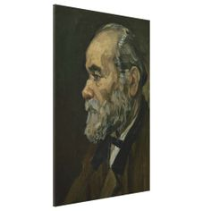 Portrait of an Old Man by Vincent Van Gogh #Stretched #Canvas #Prints. #VanGogh #Vincent #portrait #painting #oilpainting #art #poster #Impressionism #Postimpressionism #fineart #artwork #posterart #profile