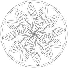 Mandala-Ausmalbild Nr. 4