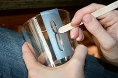 DIY: How to Make Etched Bar Glasses