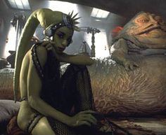 Jan 22 = Oola - Young Twi'lek dancer enslaved by Jabba the Hutt and chained to his throne. Killed by Jabba's Rancor Monster.