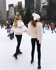 Happiness is with bestie. Love my best friend. BFF. Friendship Goal. Ski. Fashion Goal. Winter love
