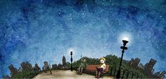 Our second-to-last piece of Reading Under the Stars-inspired #art! This one's for all our urban readers. Happy #summerreading! http://bit.ly/14SRC