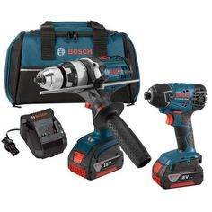 Bosch 18-Volt Lithium-Ion Cordless Drill/Driver and Impact Driver Combo Kit (2-Tool) $298.21 #Reviews