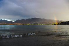 a stormy sunset on New Zealand's Lake Tekapo