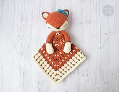 Instant download - --- This listing is only a PDF PATTERN, not a finished product --- Sweet Sleepy Fox Lovey is a plush toy and security blanket all in one! She will become a good friend for your baby. The pattern is very easy to follow: it contains detailed text instructions and many
