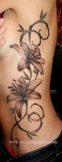 Lily side tattoo - Tattoos..for when I lose weight..lol