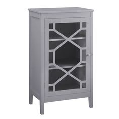Linon Fetti White Traditional Engineered Wood Media Cabinet at Lowe's. The Fetti small cabinet is a versatile accent piece, fit for any room in your home. The cabinet features a single designed glass door front that adds Glass Front Cabinets, Glass Cabinet Doors, Wooden Cabinets, Glass Door, Accent Cabinets, Media Cabinets, Cabinet Furniture, Living Room Furniture, Apartment Furniture
